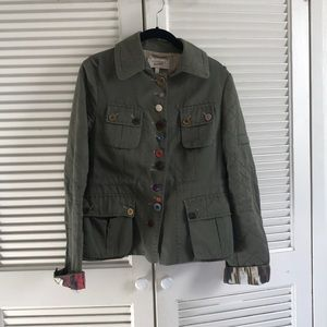 Mix and match buttons army blazer